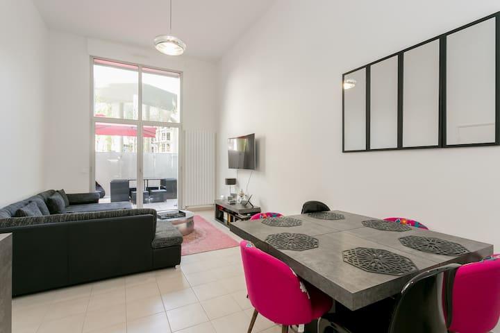 Apartment loft with terasse new district boulogne - Boulogne-Billancourt - Appartement