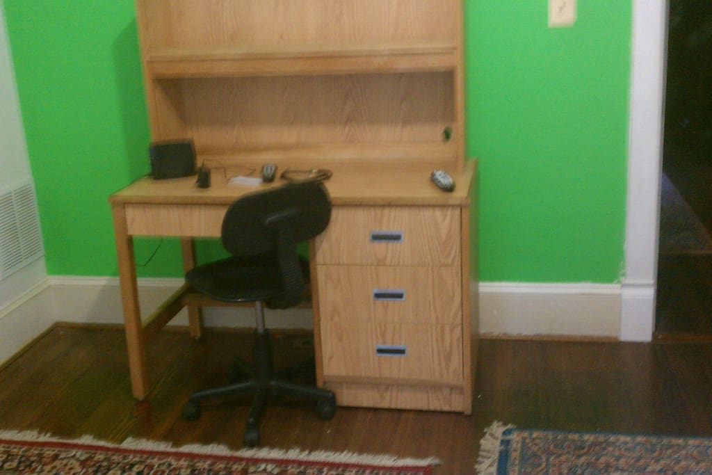 This is the desk and chair in the bedroom.