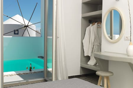 Drops villas - Suite with Jacuzzi - Vothonas