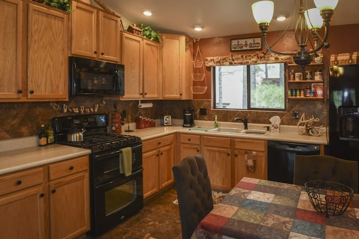 Full kitchen with double oven and Mountain View!