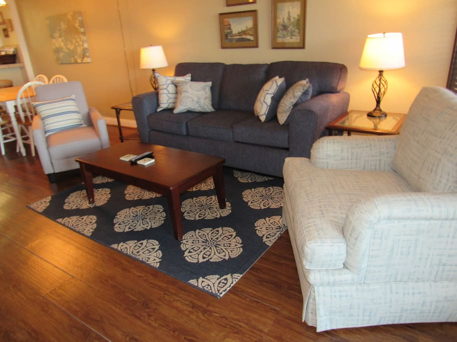 Living room with couch and 2 chairs