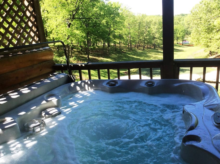 Incredible views while enjoying your private hot tub - the best view in the area