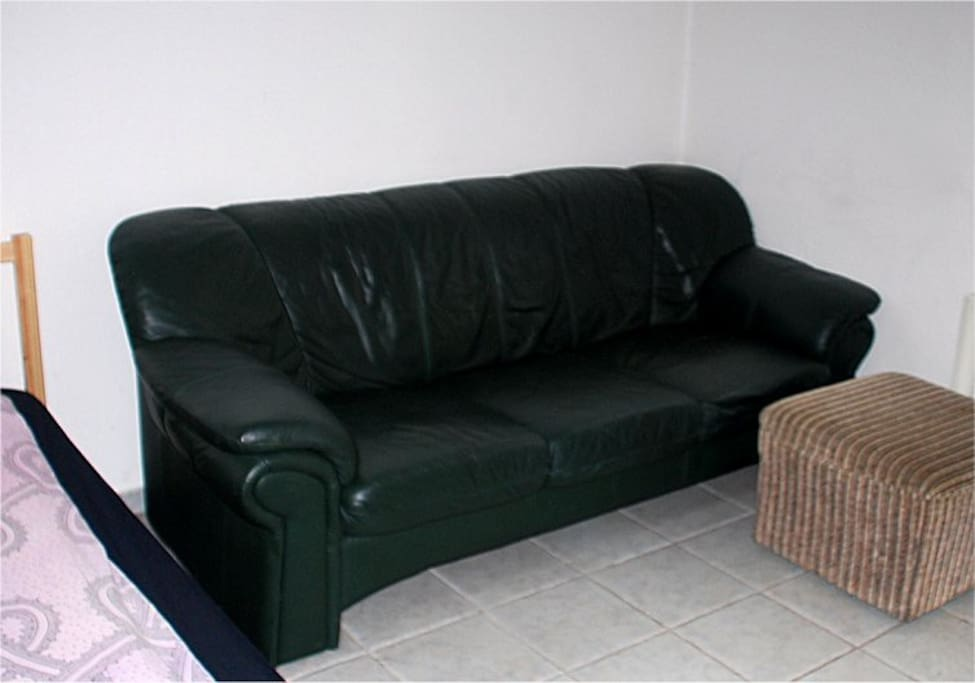 IMPORTANT - if you ask for a 5th person to stay, there is this sofa. We do not have a bed for more than 4 people.