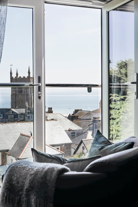 Sea view from living room window