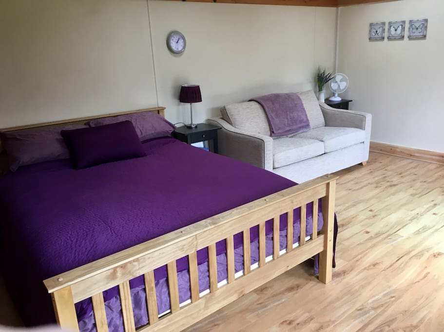 King size bed and double sofa bed