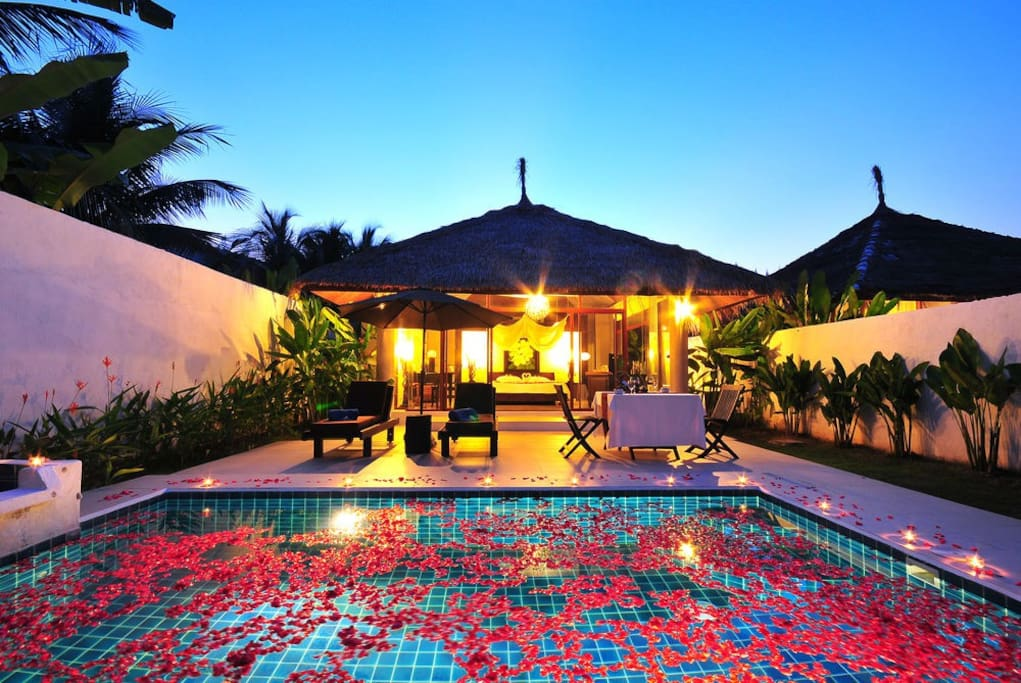 Private pool and garden