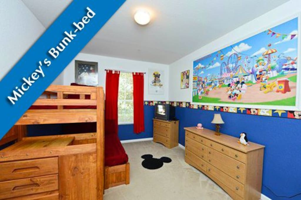 Sturdy Bunk beds in the Disney Themed Bedroom