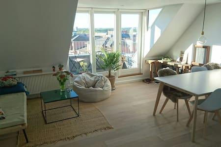 Apartment in the very center of Århus - great view - Daire