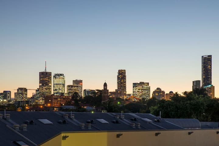 View from your bedroom – city views in the evening.