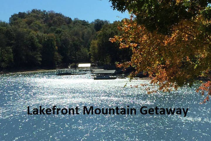 Lakefront Mountain Getaway - on the point! - Hiawassee - Dům