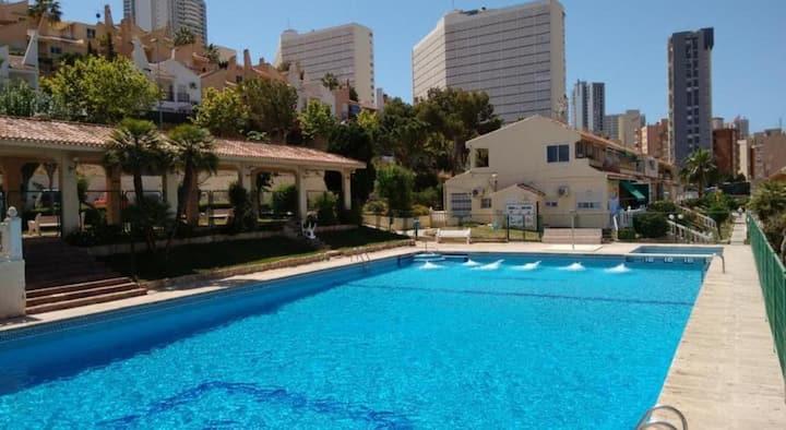 Holiday apartment center of Benidorm close to Aqualandia COVID FREE