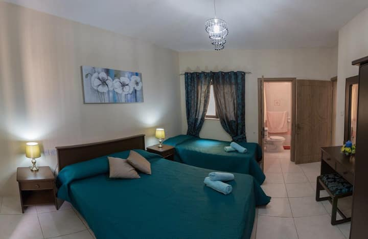 Fully Air-conditioned Apartment in tranquil Mgarr