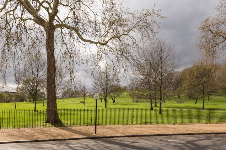 Overlooking Primrose Hill Steps from Amenities