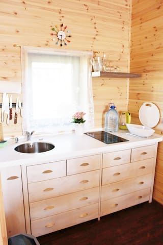 The built-in kitchen