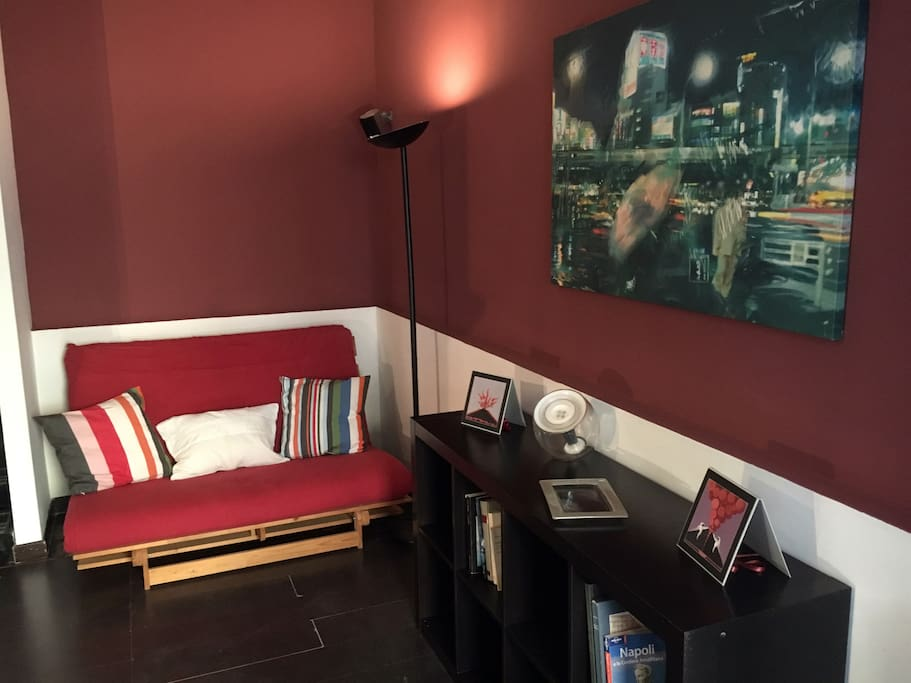 Living with sofa bed (120 cm x 200 cm)