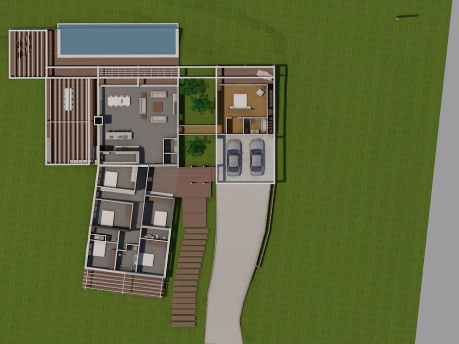 ***New architect high-designed house (3D render) ready April 2018***