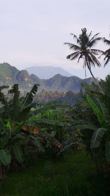 Mount Agung viewpoint; a only a 10-minute walk away.