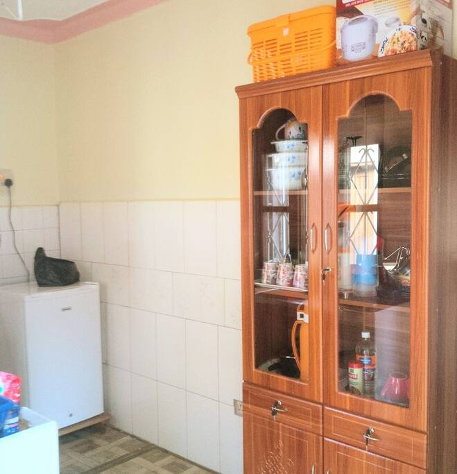 Our shared kitchen and kitchen ware for use