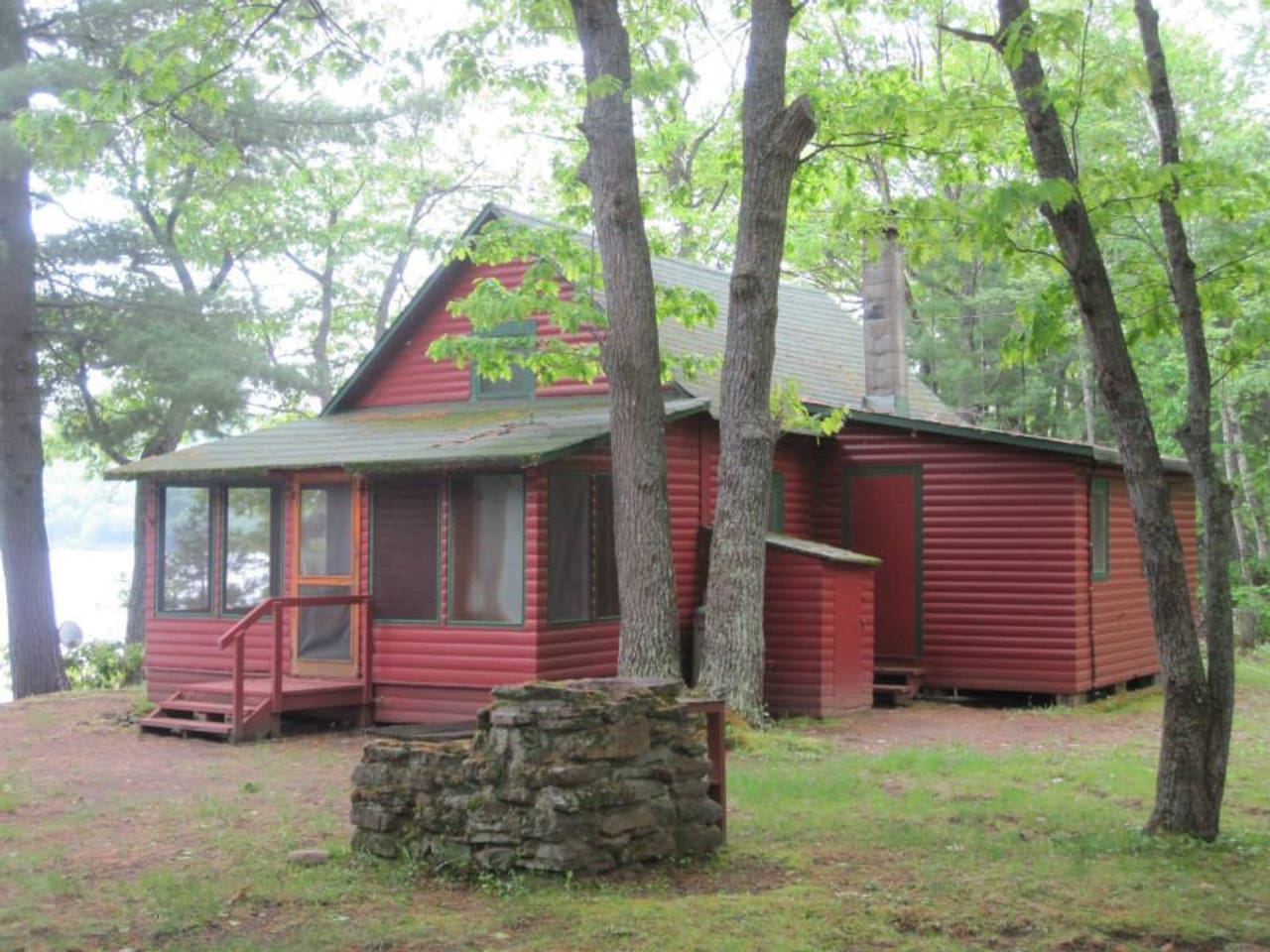Our little cottage by the lake was originally the cookhouse/bunkhouse for a lumber company.