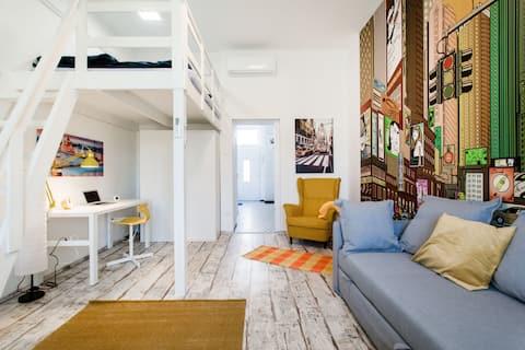 ⭐️まったく新しいモダンなアパート、ネスプレッソ ❤️