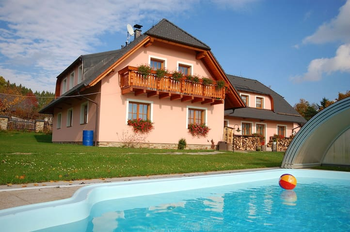 Apt for 5 persons with pool in Stachy R65367