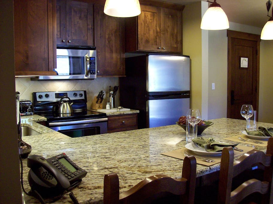 High end fully furnished kitchen
