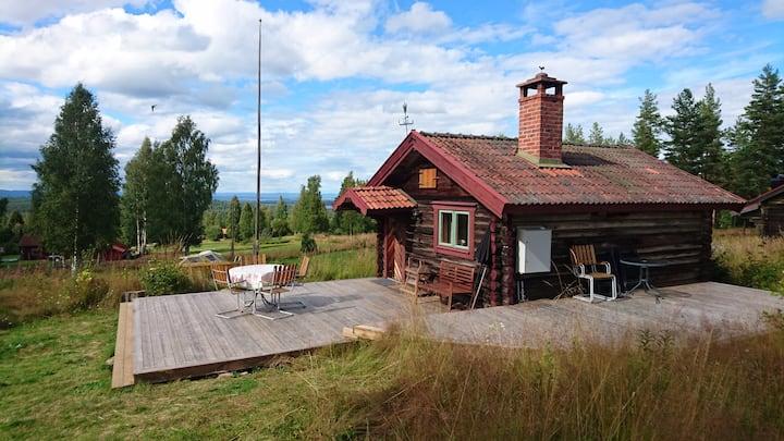 Fäbodstuga nära Åsengården mellan Mora och Leksand