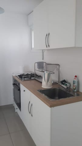 3 room flat with garden.15 min.walk to sea beach.