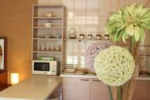 Kitchen.廚房。