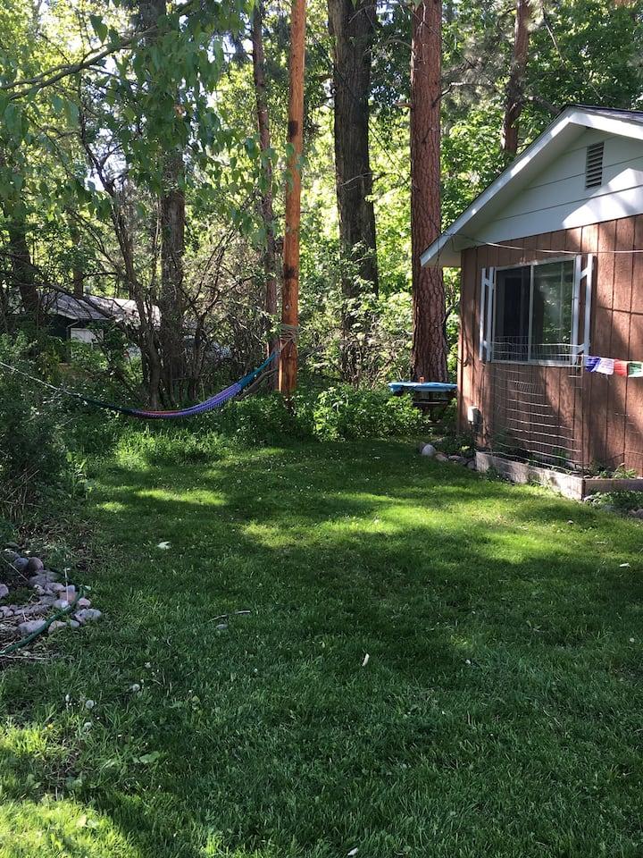 Private room; shared house, big yard, creek trail
