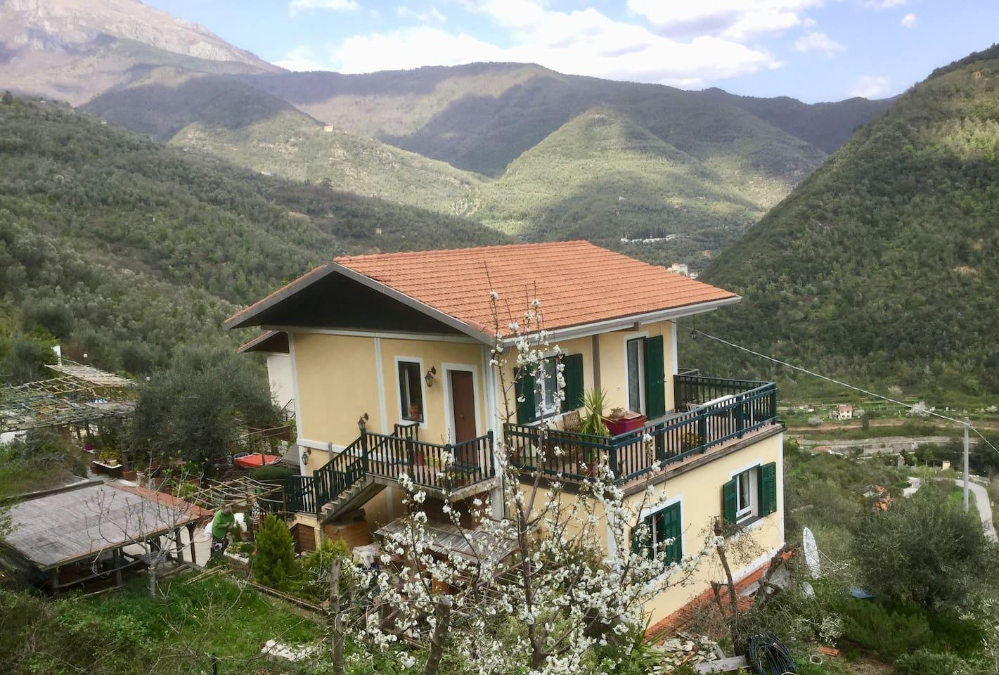 Casa Valeria in the spring