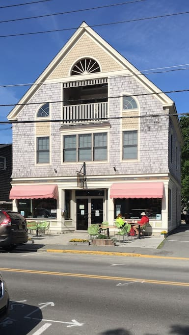 240 Main Street.  Choco-Latte Coffee shop 1st level 2500 sq ft living space Airbnb rental 2nd and 3rd floors.