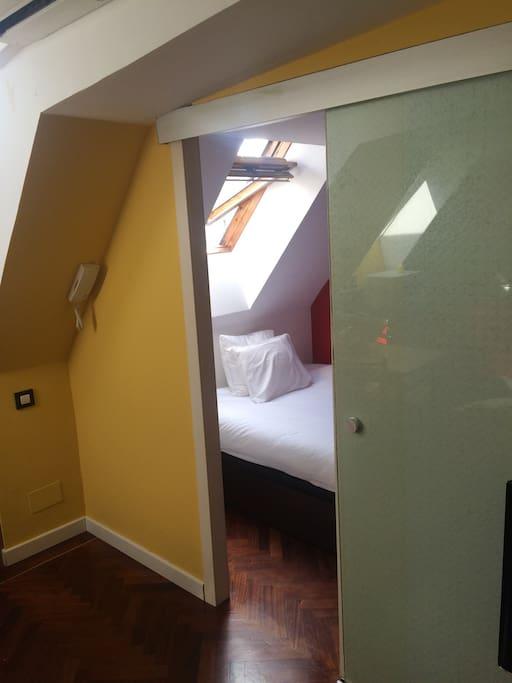 Door to the bedroom