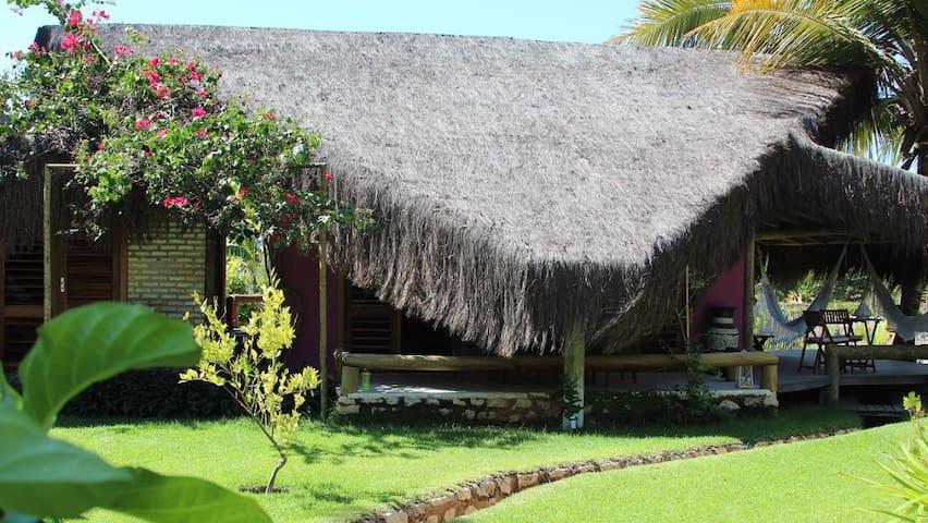 Chalé exótico no Icaraizinho - Icarai de Amontada - Ház