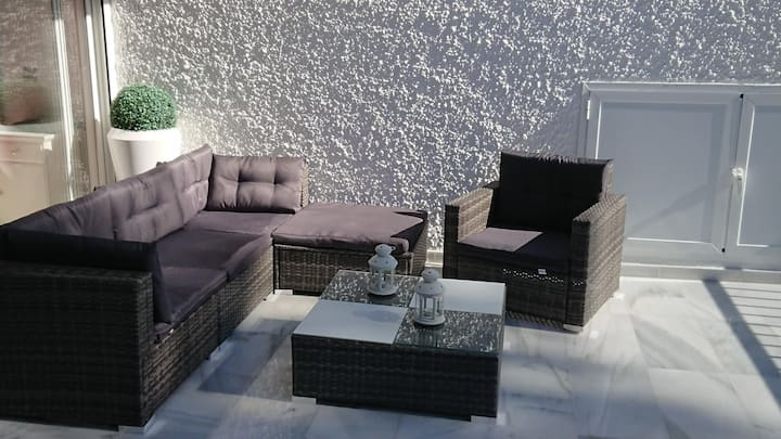 Terrace in MARBELLA for 6PAX