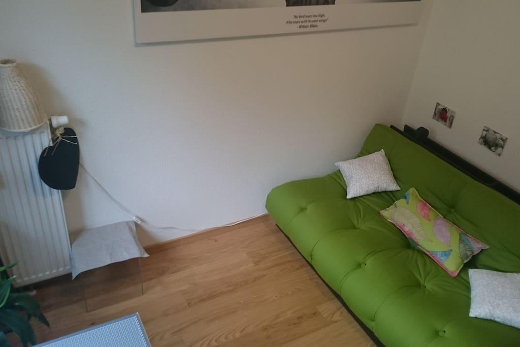 Sofa zusammengeklappt