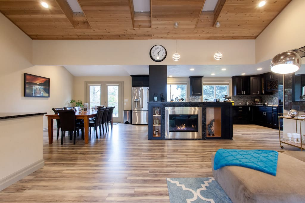 Massive, open concept great room with space for the whole family!