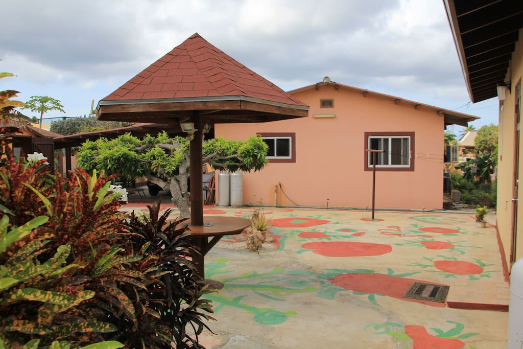 Garden and main house