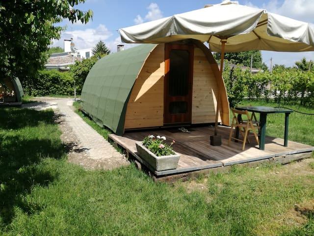 boungalow chalet ecologico con bagno e cucina