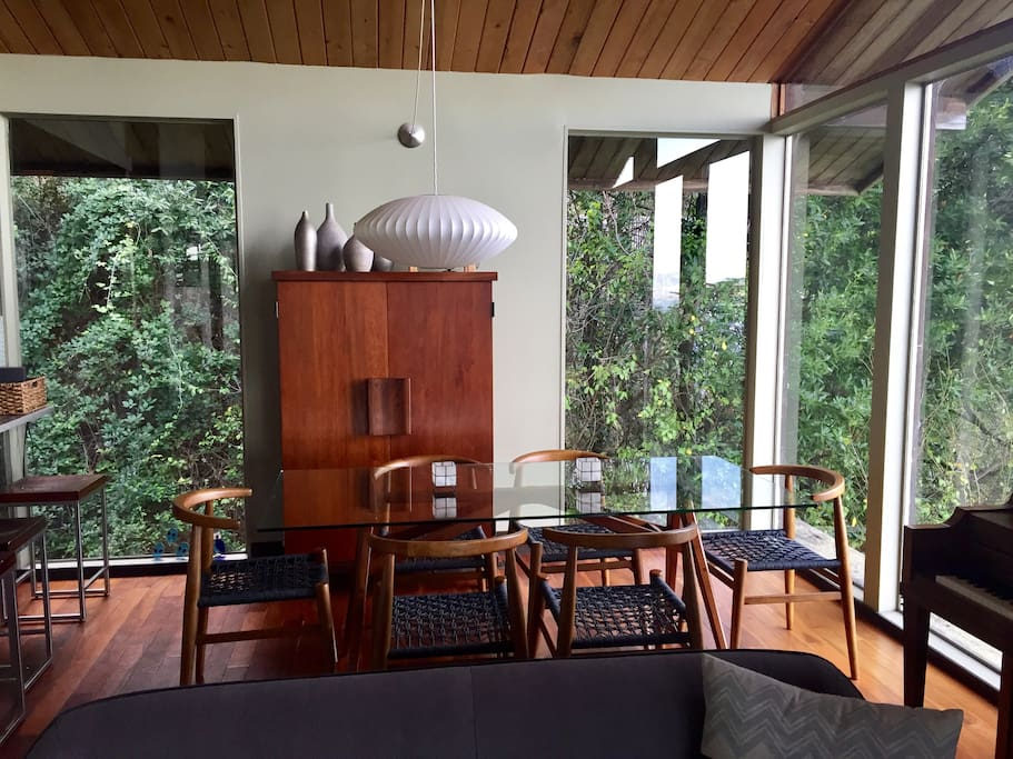 """""""Treehouse"""" dining area."""