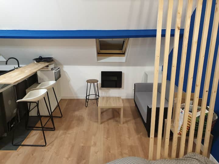 Studio Neuf pied Metro 5min Centre Villes et gares