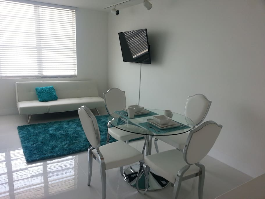 Full size sofa bed and dinning table