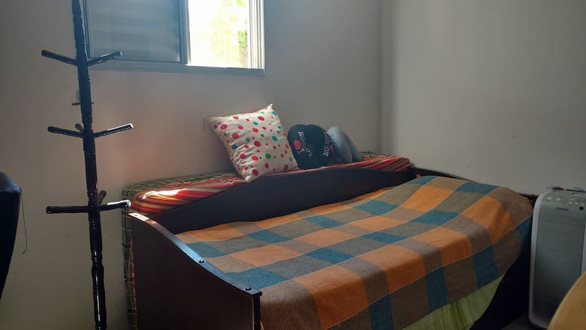 Bedroon in apartament with backyard and coffee - Sorocaba - Lägenhet
