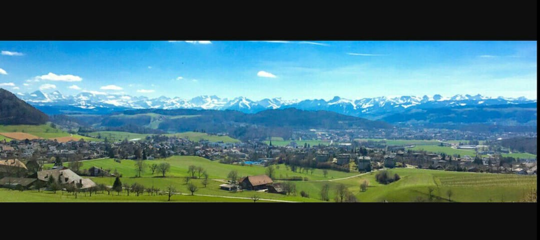 Natural, nice view, close from Berne city - Bolligen - Apartamento