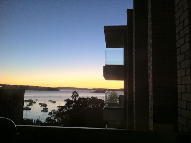 Large sunny apartment with stunning harbour views - Elizabeth Bay