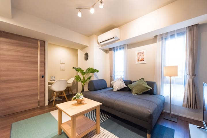 1 Bedroom with living room! 8min walk from GINZA!