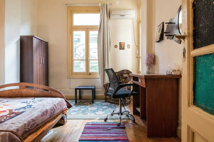 ☀️Sunny Bedroom In The Heart Of Downtown Cairo🇪🇬