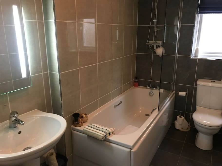Guest use only bathroom - bath and shower