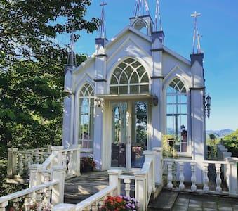 雙人庭院獨棟木屋-鄰近勝興車站三義老街[峯州小木屋]浪漫婚紗戶外庭園