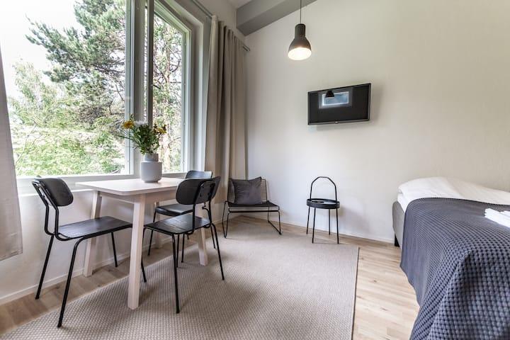 Cozy studio with loft in Hiekkaharju 500718